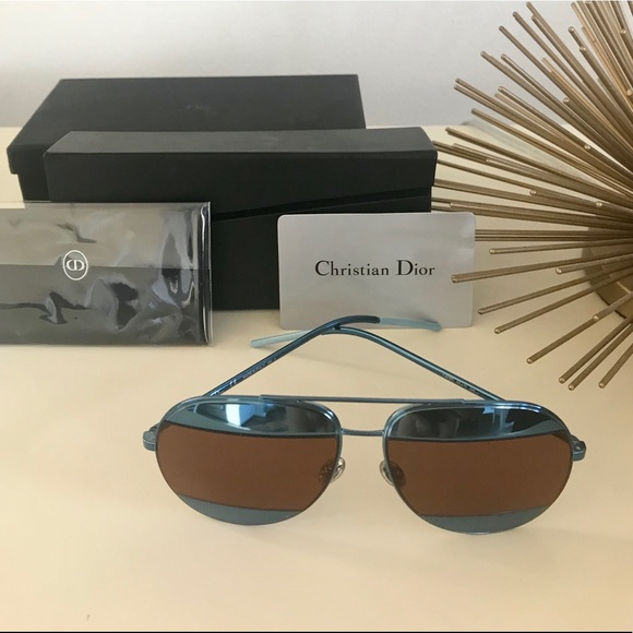 c1e23e9da2288 Dior Accessories -  NEW  Dior Split 1 Blue Aviator Sunglasses 😎